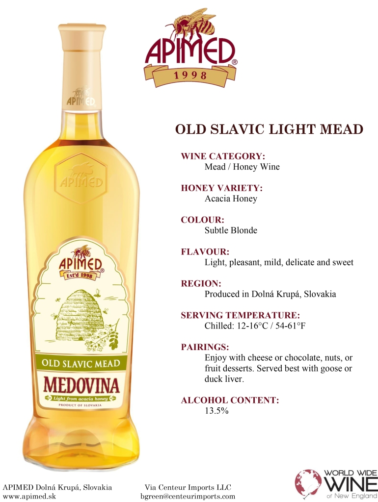 Old Slavic Light Mead fact sheet